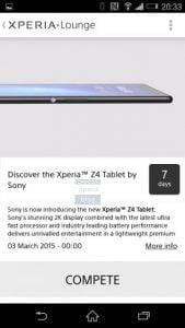 Sony Xperia Z4 Tablet lækkage