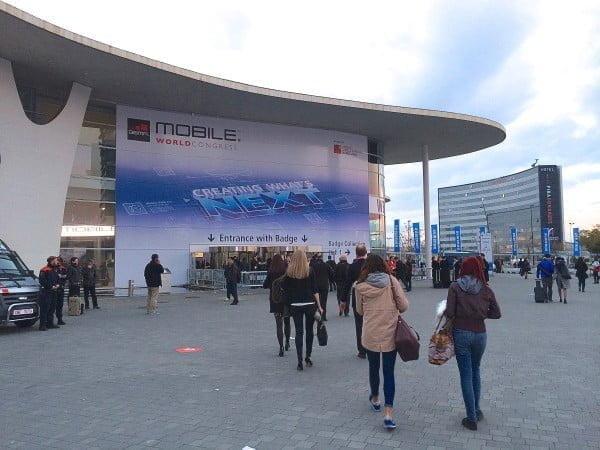 Indgangen vil Mobile World Congress 2014 (Foto: MereMobil.dk)