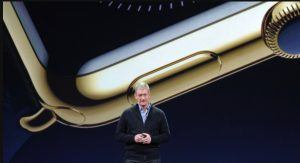 Apple Watch blev fremvist af CEO i Apple, Tim Cook.