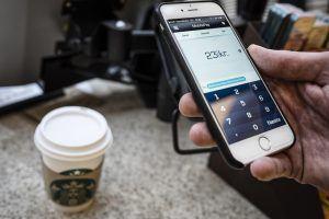 Betaling med MobilePay i Føtex (Foto: Claus Sjödin)