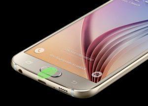Galaxy S6 fingeraftrykslæser
