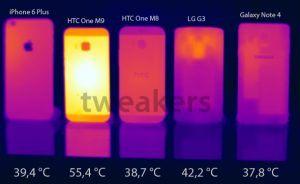 HTC One M9 varmeudvikling