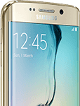 Samsung Galaxy S6 Edge - front side - guld