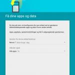 Nexus 9 - Vælg enhed til gendannelse