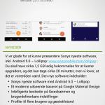 Xperia Z3 opdatering