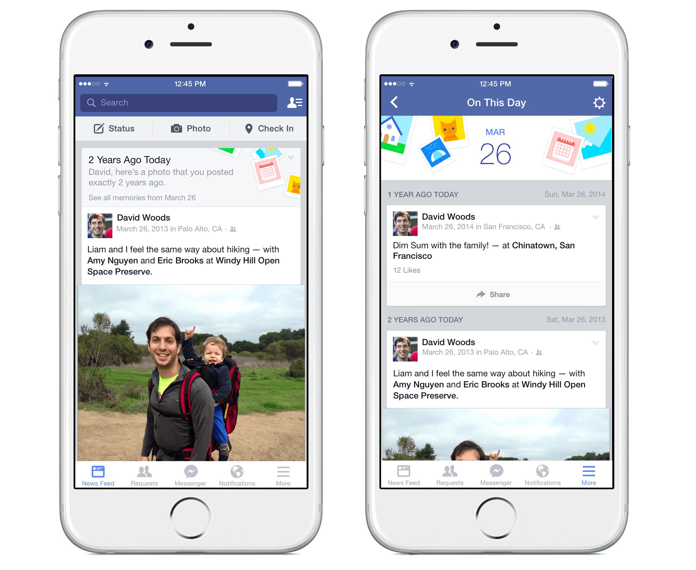 """Facebook finder minderne frem med """"On This Day"""""""
