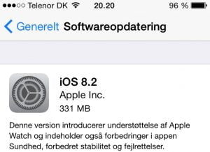 iOS 8.2 er nu frigivet