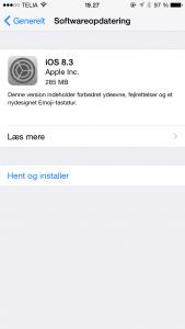Apple har netop frigivet opdateringen iOS 8.3