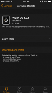 Apple Watch opdatering