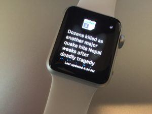 Google News applikation på Apple Watch (Foto: Techcrunch.com)