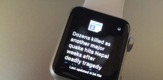 Google News applikation på Apple Watch (Foto: Techcrunch.com)
