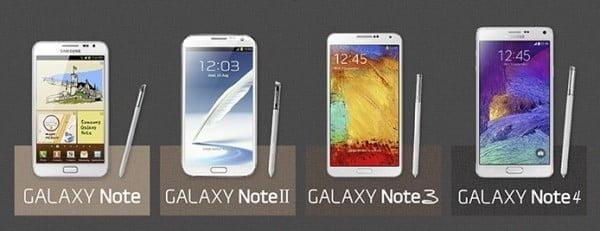 Samsung Galaxy Note-serien.