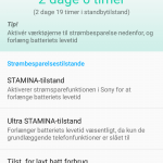 Screenshot fra Sony Xperia Z3+ (Foto: MereMobil.dk)
