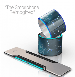 Blu smartphone (koncept-billede)