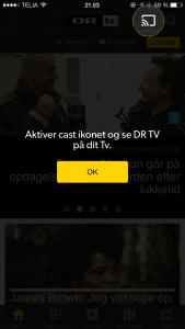 DR TV Chromecast iPhone