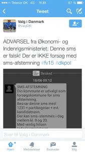 Den falske valg-SMS.