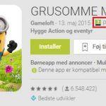Google Play familiesektion - aldersmærkning