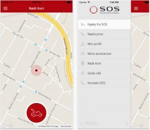Rødt Kort SOS app