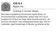 Apple har netop frigivet denseneste software til iOS-enheder – iOS 8.4 åbner for den nye musiktjeneste Apple Music. Hentopdateringen nu.