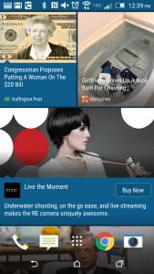 Reklamer i HTC Blinkfeed