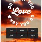 Billeder fra Phonto applikationen fra Apples App Store