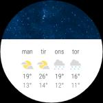 Android Wear - Følg vejret lokalt, uanset placering
