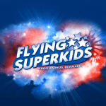 Screenshots fra Flying Superkids applikation