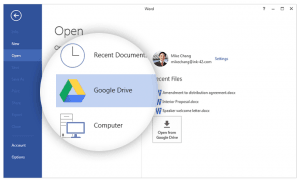 Google Drev plugin til Microsoft Office