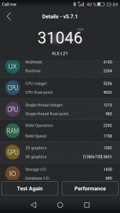 Skærmbillede fra Huawei P8lite
