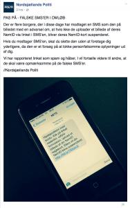 Advarsel fra Nordsjællands Politi (Kilde: Nordsjællands Politi)