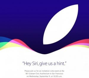Invitation fra Apple til stort event