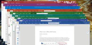 Lækket bilede af Office 2016 til Windows