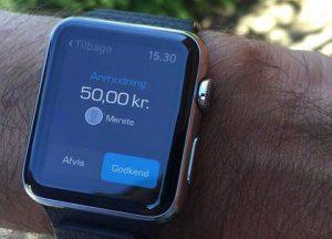 MobilePay kan nu bruges på Apple Watch (Foto: Danske Bank)