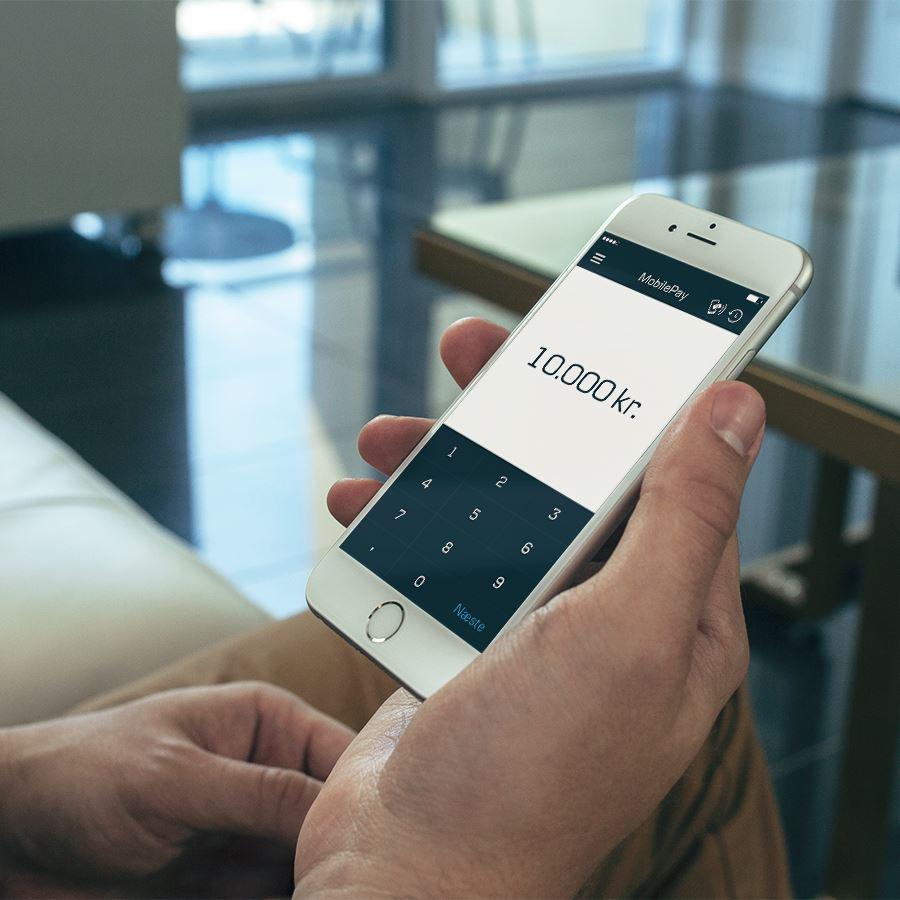 maks beløb mobilepay