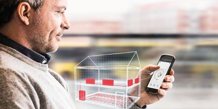 danfoss klar med app styret termostat. Black Bedroom Furniture Sets. Home Design Ideas