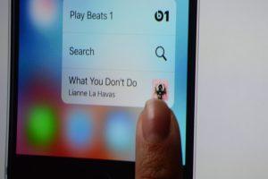 3D Touch på de nye iPhones.