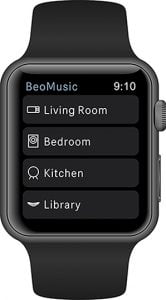 BeoMusic applikation på Apple Watch (Foto: Bang & Olufsen)