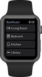 BeoMusic applikation på Apple Watch (Foto: Bang & Olufsen)