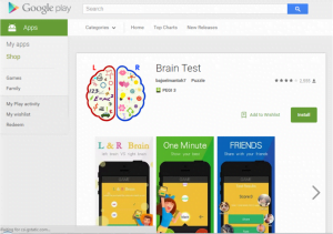 BrainTest Google Play Store (Foto: Check Point)