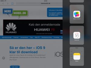 Slide Over på iPad