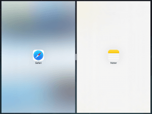 Split View på iPad