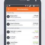 Screenshots fra Swipp applikationen