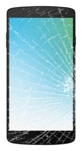 Ødelagt skærm (Foto: Telenor)