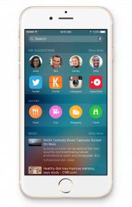 Proactive Assistant i iOS 9