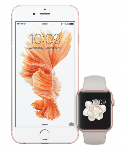 iPhone 6S og Apple Watch
