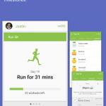 Screenshots fra S Health apScreenshots fra S Health applikationenplikationen