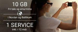 Telia abonnement inkl. 1 service