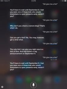 Siri give me a hit (Kilde: Cnet.com)