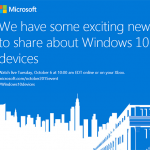 Windows 10 event - 6. oktober 2015