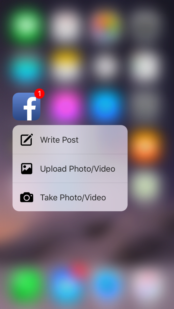 Facebook understøtter nu 3D Touch på iPhone 6S og iPhone 6S Plus